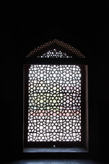 window of an old temple in india