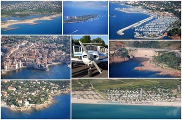 Vues aériennes du Var et des Alpes Maritimes