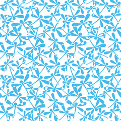 Seamless pattern with blue dragonflies