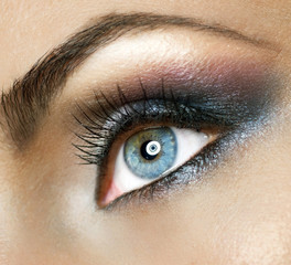 Beautiful Woman's Eye.Makeup