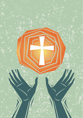 Praise Hands and Cross