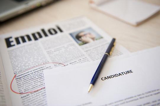 recherche d'emploi - candidature
