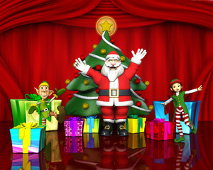 santa and the elves helpers