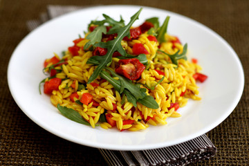 Orzo Pasta with Slow Roasted Tomatoes