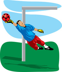 Colored goalkeeper