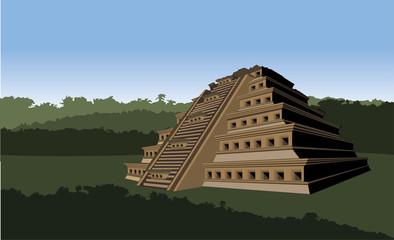 Nichos Pyramid in Tajin