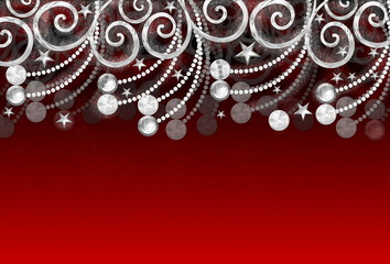 Weihnachtskugeln in Bewegung, rot