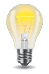shiny classic light bulb
