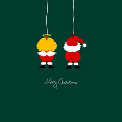 Hanging Christmas Santa & Angel