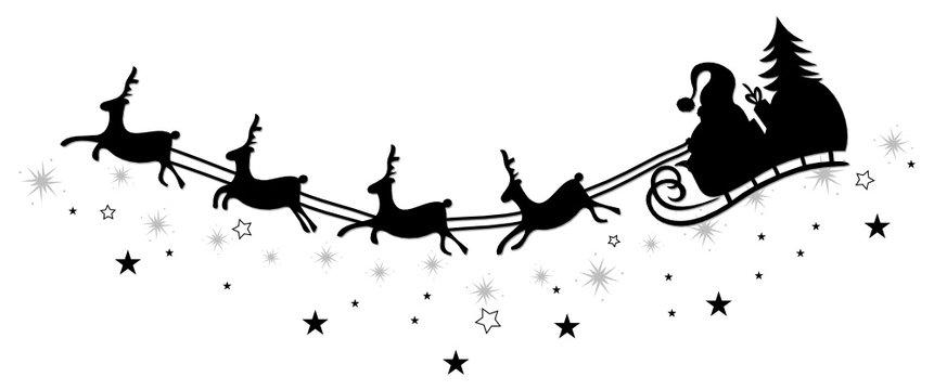 Weihnachten, Rentiere, Schlitten, christmas, vector