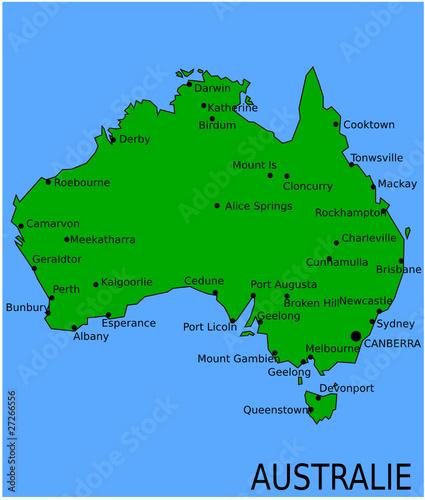 Carte Australie Principales Villes.Carte Des Villes Principales De Nouvelle Zelande Fichier