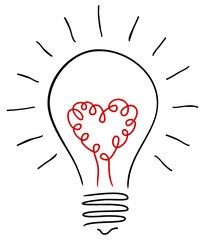 Electric Bulb & Heart