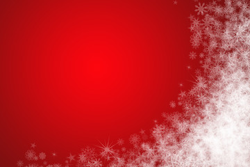 Christmas background with left-down free place