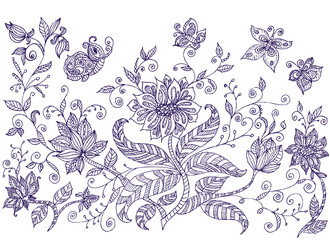 Lawn ornamental flowers