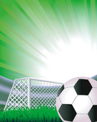 Soccer abstract background with detailed goal.