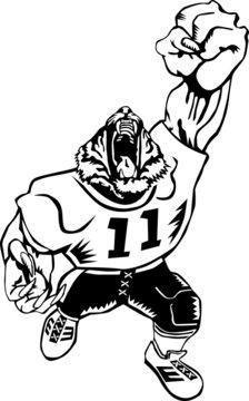 Football tiger mascot