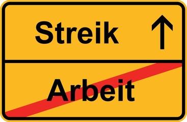 Streik - Arbeit