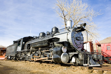 steam locomotive in Colorado Railroad Museum, USA