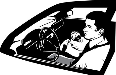 Man using a CB radio