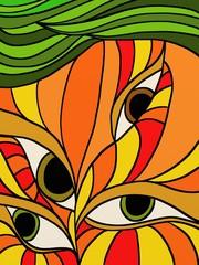 Spoed Foto op Canvas Klassieke abstractie occhi misteriosi