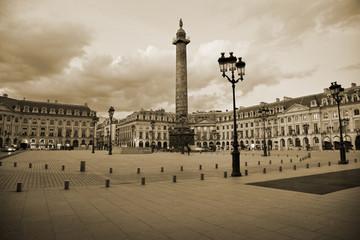 Famous Vendôme square of Paris