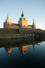 Kalmar castle and its reflection, Kalmar, Sweden