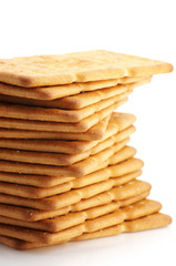 Stack of crackers close-up