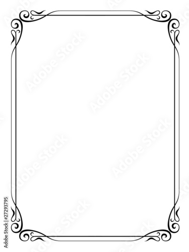 White Ornate Picture Frames A4 Floral Vector Frame Format