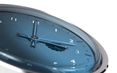 Temps - montre en 3D - blue watch over white