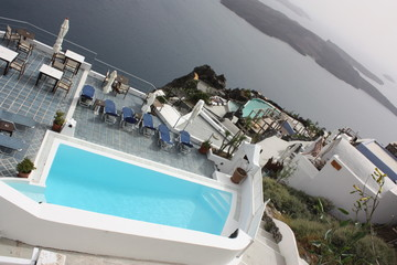Piscine et Hôtel en Grèce