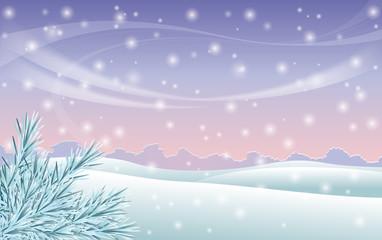 Winter scene background , vector