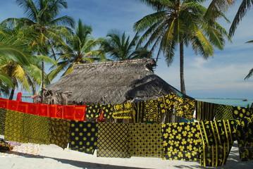 Maison Kuna, Archipel des îles San Blas, Panamá