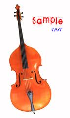 Cello, isolated on white .