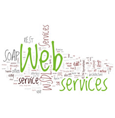 Web Services Word Collage on white background