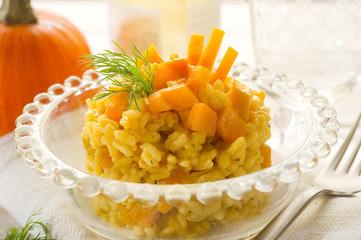 pumpkin risotto-risotto alla zucca