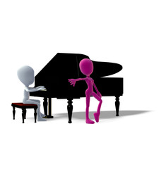 Erotik Klavier Verführung 3D