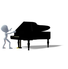 Künstler Piano 3D
