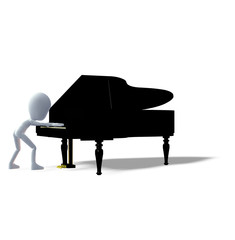 Klavierspieler Piano Logo