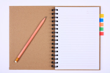recycle notebook with bookmark