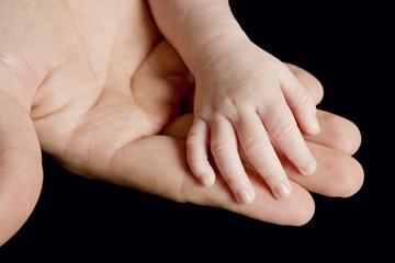 La main de bébé