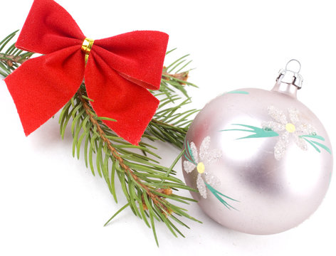Closeup photo of a nice colorful Christmas decoration