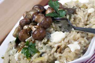 Mushrooms and Risotto