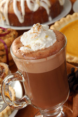 cappuccino and dessert