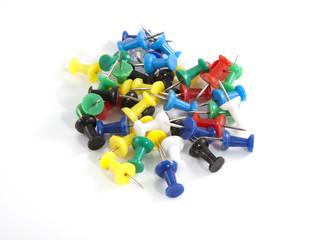 Several pushpins