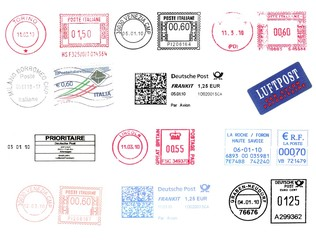 bunch of european postmarks 2010