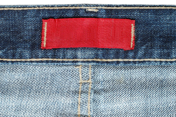 Label on jeans