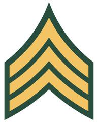 American rank of sergeant insignia