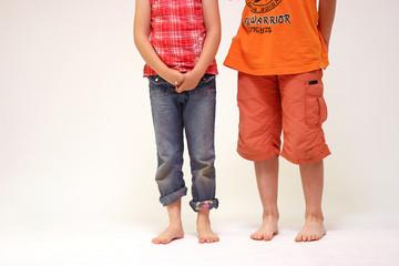 Kinderbeine Barfuß