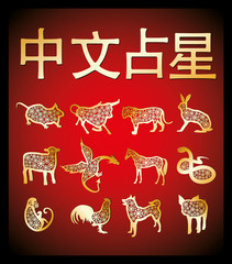 Golden chinese horoscope