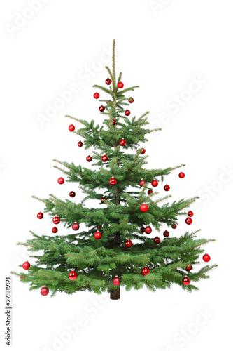Rot dekorierter weihnachtsbaum stockfotos und lizenzfreie bilder auf bild 27389121 - Dekorierter weihnachtsbaum ...